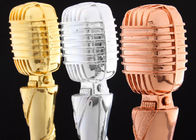 Microphone Design Custom Trophy Awards Resin Material Made For Musical Activities